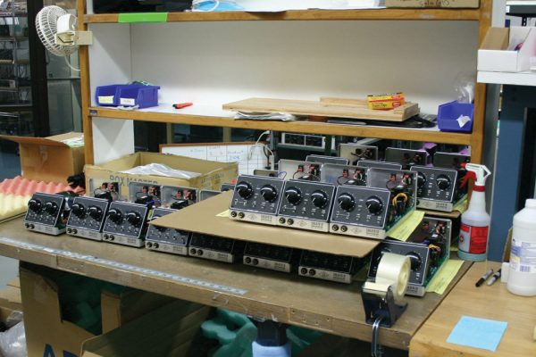 Solo 610s in the hatchery: All the analogue hardware at UA is hand-made in Santa Cruz, under the one roof.