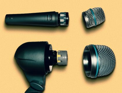 Removing the grille on Shure's Beta 52A reveals a much smaller capsule than expected.
