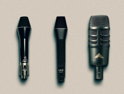 Two-way microphones: AKG's D202 and D222, AudioTechnica's AE2500.